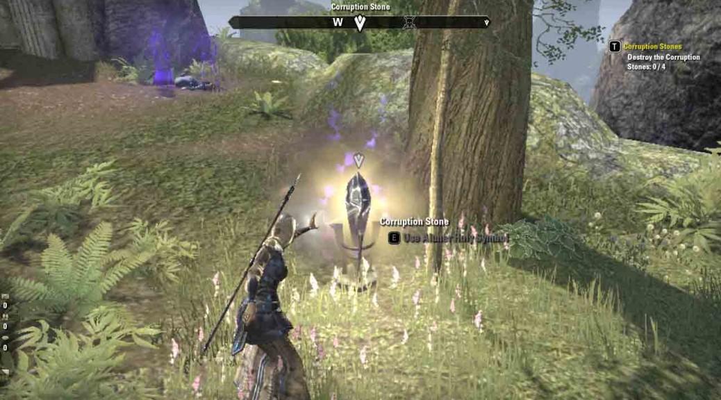 The Elder Scrolls Online quest Corruption Stones.