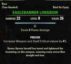 TESO Rites of the Queen reward Eaglebanner-Longbow