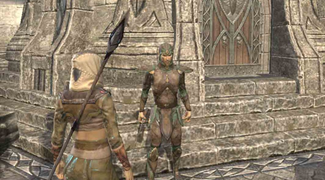 The Elder Scrolls Online entering barracks for quest The Unveiling