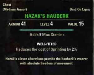 Image of quest reward Hazek's Hauberk.