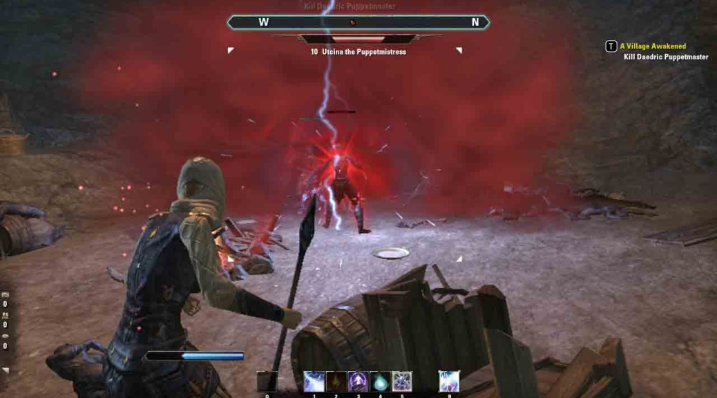 fighting the Daedric Puppetmaster.