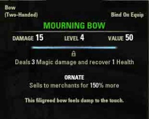 Image of quest reward Mourning Bow.