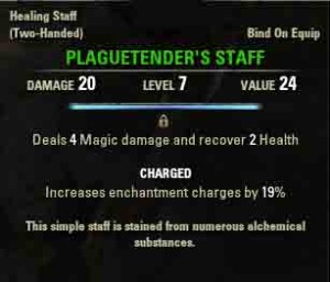 The Elder Scrolls Online reward for The First Patient - Plaguetenders Staff