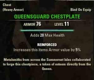 TESO reward Queesguard Chestplate