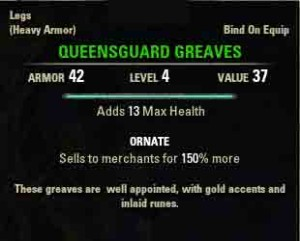 A Hostile Situation quest reward Queensguard Greeves.