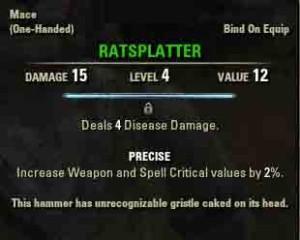 Image of quest reward Ratsplatter.