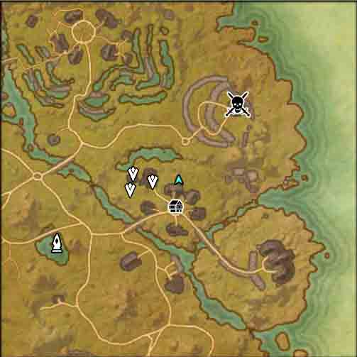 The Elder Scrolls Online quest Real Marines map image of supplies