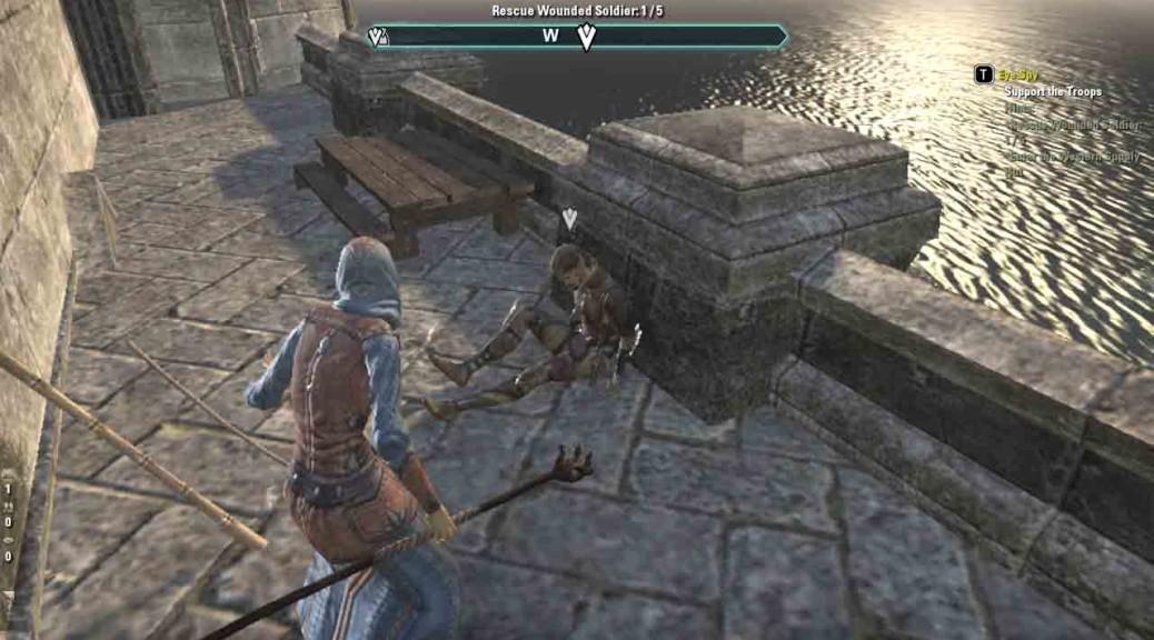 Elder Scrolls Online quest Eye Spy rescuing wounded soldiers
