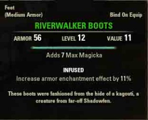 TESO quest reward Riverwalker Boots
