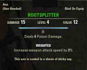 Image of quest reward Rootsplitter.