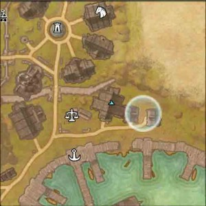 The Elder Scrolls Online map view of quest Ensuring Security