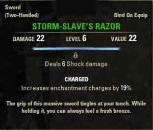 Image of quest reward Storm Slave's Razor.