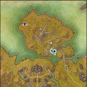 The Elder Scrolls map start of The Jesters Joke quest