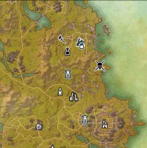 The Elder Scrolls Online Map Start of The Veiled Choice