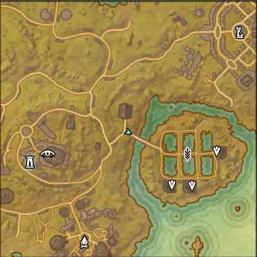 Map image of the starting point to the quest The Family Business.