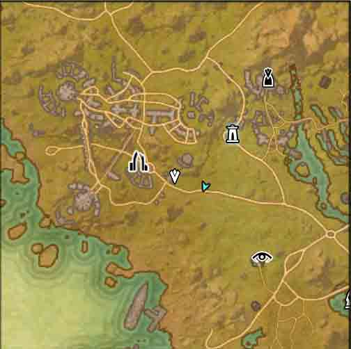 The Elder Scrolls Online quest In the Name of the Queen map view