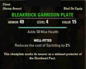 The Elder Scrolls Online The Missing of Bleakrock reward Bleakrock Garrison Plate