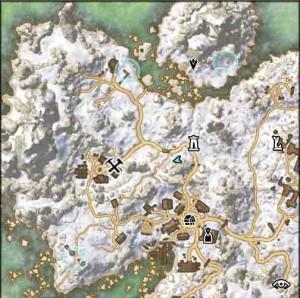 The Elder Scrolls Online Underfoot quest map view