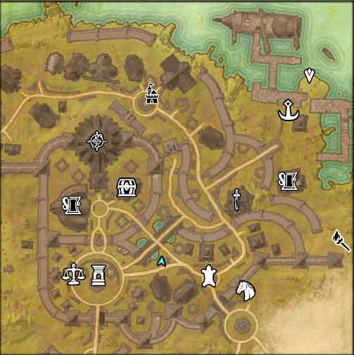 The Elder Scrolls Online A Beginning At Bleakrock Isle map view