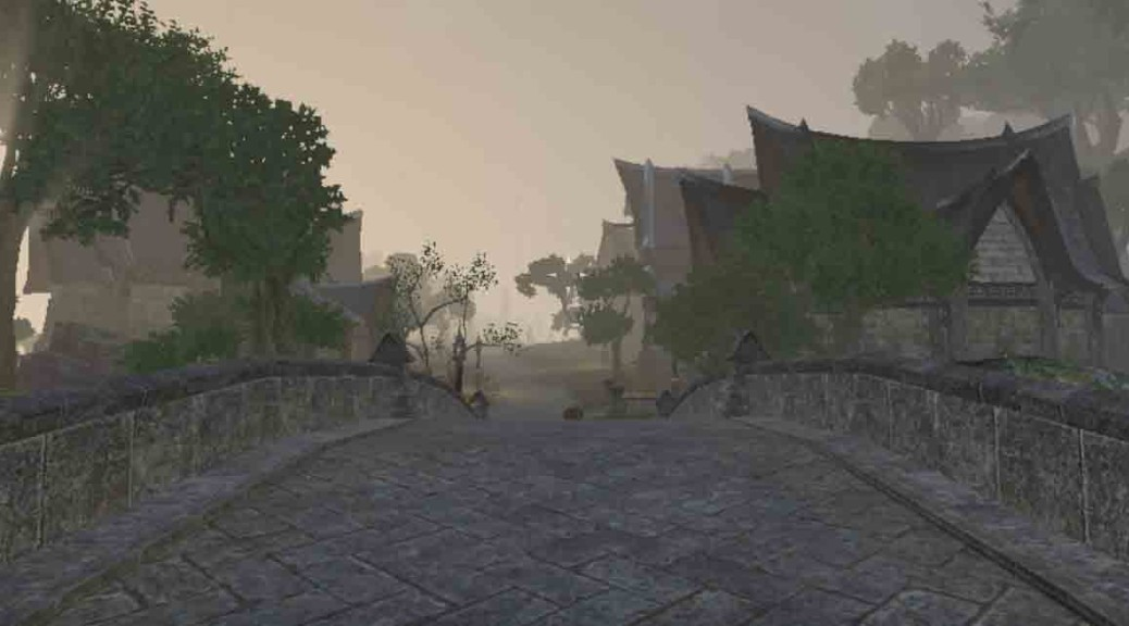 The Elder Scrolls Online Town of Dawnbreak in Auridon